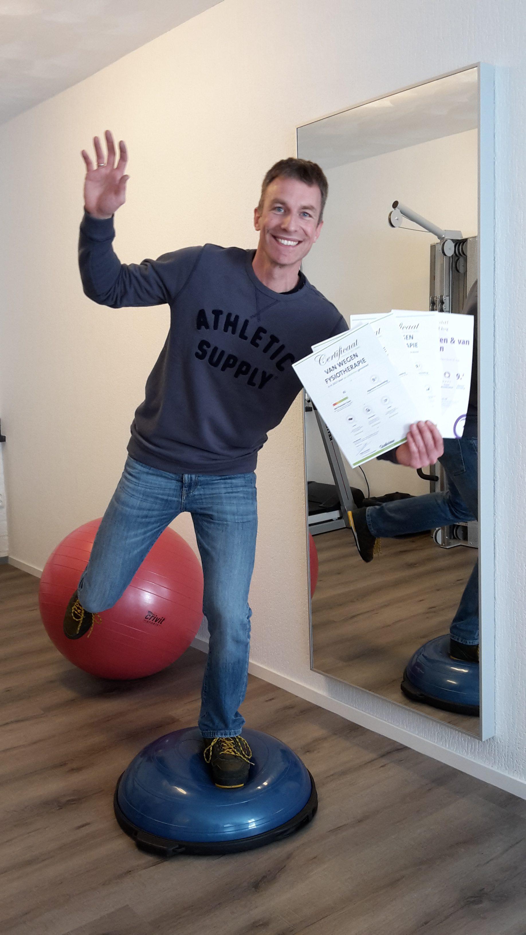 """Praktijk Erik van Wegen """"in balans"""" met 5 jaar topscore."""