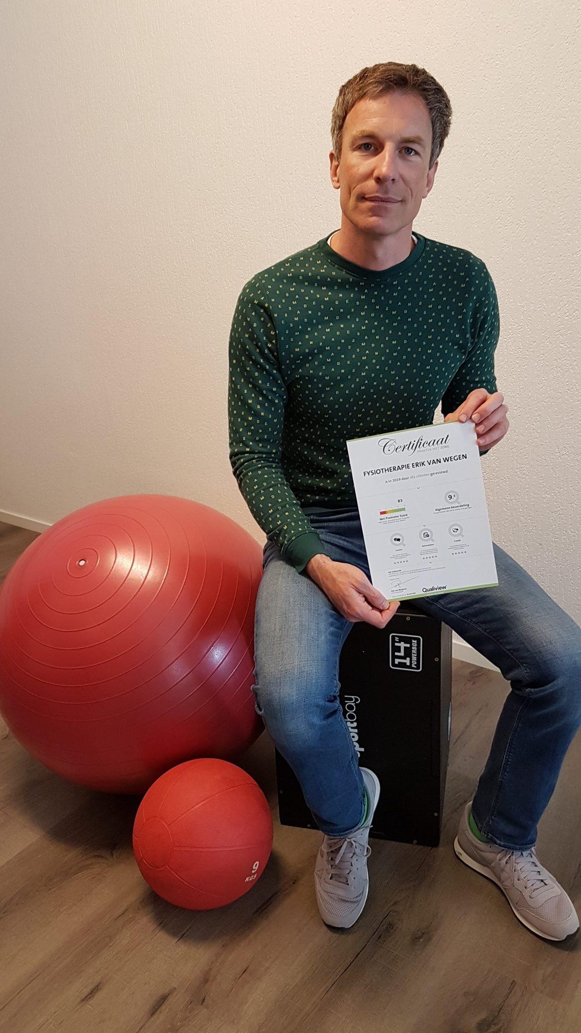 Fysiotherapie Erik van Wegen scoort 9.3